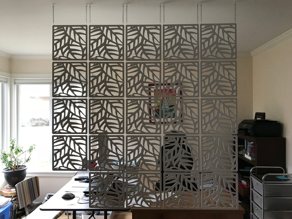 Room Divider Interior partition - Style Leaf - 12 pieces