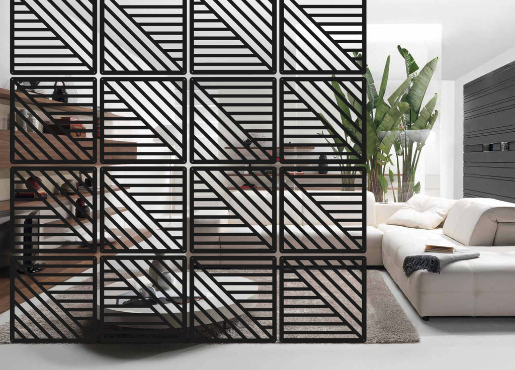 Interior partition Room divider - Style Lines - 12 pieces