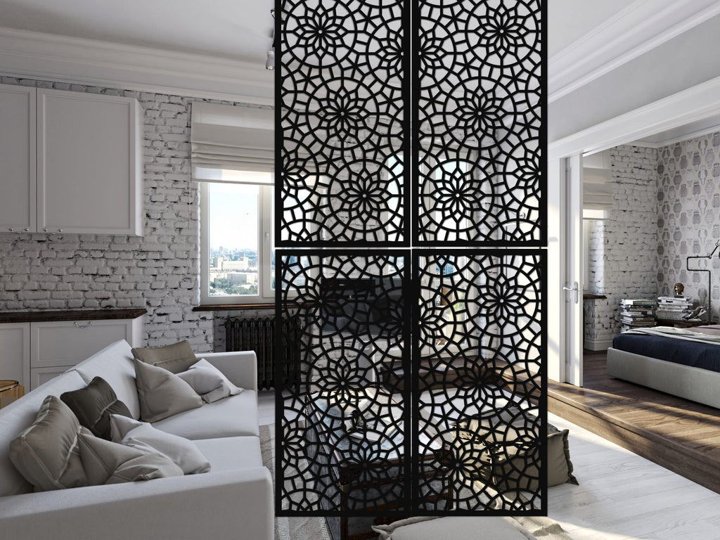 Room decor Hanging screen - Style Vitrail -  6 pieces