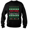 Personalized Name Christmas Ugly Sweater