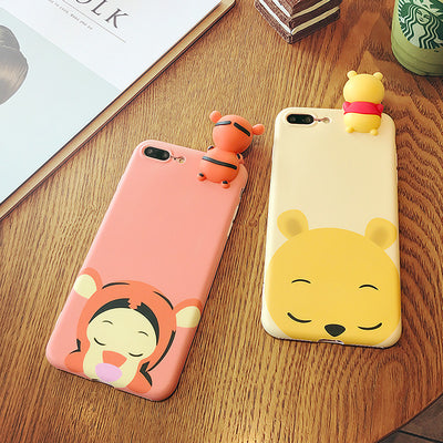 newest collection b1c03 958cd [Freeship] Cute DISNEY Couple Pooh & Tigger Phone Cases for iPhone