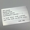 Customized Silver Secret Message Card 10 years anniversary