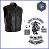[Special Offer] Biker Waistcoat Faux Leather x SOA patches