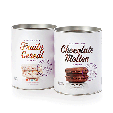 2 Macaron Making Kit - Chocolate Molten & Fruity Cereal + FREE APRON