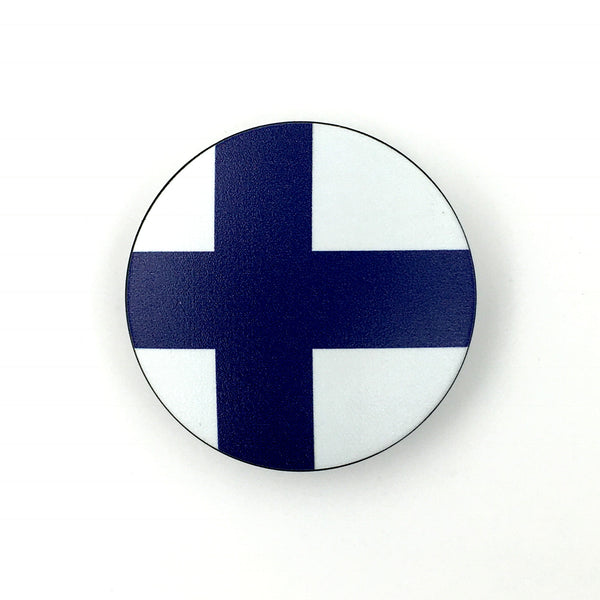 The Finland Stem Cover-  a 2 piece, custom designed bicycle stem caps to replace your current headset cover or stem cap.