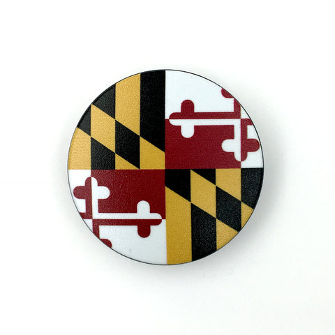 Maryland Stem Cover- a 2 piece, custom designed bicycle stem caps to replace your current headset cover or stem cap.