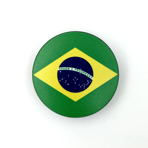 The Brazil Stem Cover- a 2 piece, custom designed bicycle stem caps to replace your current headset cover or stem cap.