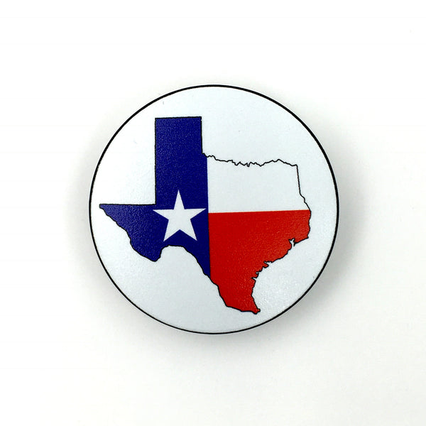 The Texas Map- a 2 piece, custom designed bicycle stem caps to replace your current headset cover or stem cap.