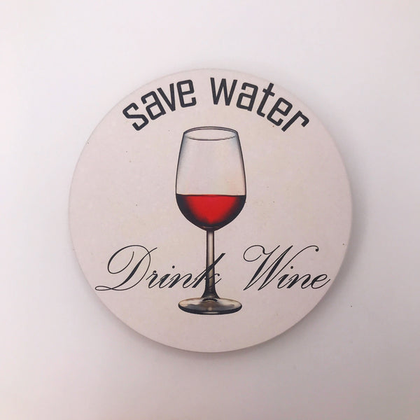 Water and Wine Coaster