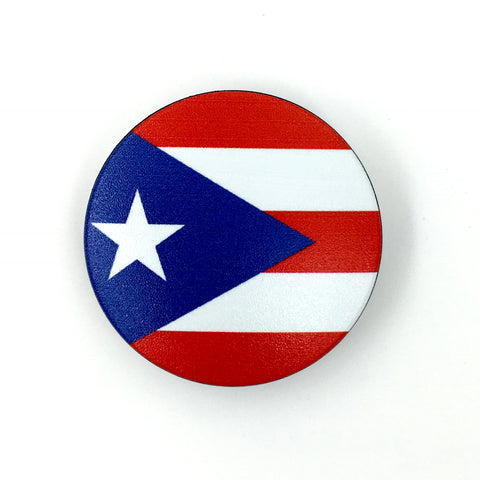 The Puerto Rico Stem Cover- a 2 piece, custom designed bicycle stem caps to replace your current headset cover or stem cap.