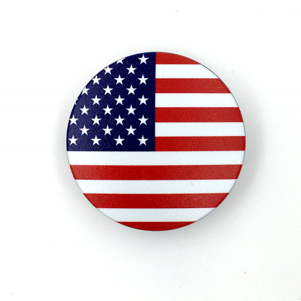The USA Stem Cover - a 2 piece, custom designed bicycle stem caps to replace your current headset cover or stem cap.
