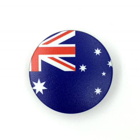 The Australia Stem Cover- a 2 piece, custom designed bicycle stem caps to replace your current headset cover or stem cap.