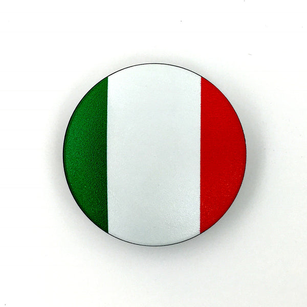 The Italy Stem Cover-  a 2 piece, custom designed bicycle stem caps to replace your current headset cover or stem cap.
