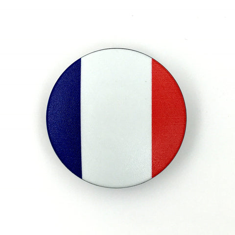The France Stem Cover-  a 2 piece, custom designed bicycle stem caps to replace your current headset cover or stem cap.