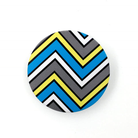 The Chevron Stem Cover-  a 2 piece, custom designed bicycle stem caps to replace your current headset cover or stem cap.