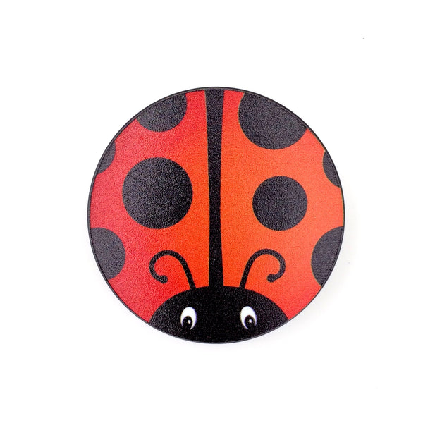 The Ladybug Stem Cover-  a 2 piece, custom designed bicycle stem caps to replace your current headset cover or stem cap.
