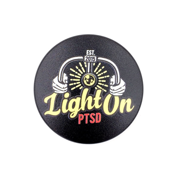 Light on PTSD- a 2 piece, custom designed bicycle stem caps to replace your current headset cover or stem cap.