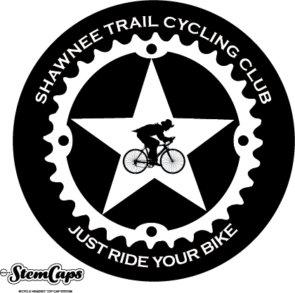 The Shawnee Trail Cycling Club Black Stem Cover