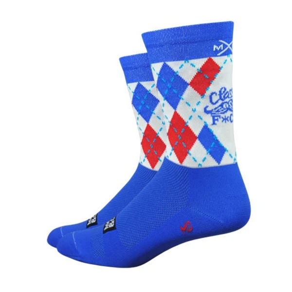 Moxy and Grit: Classy as F*ck Mustache Argyle Socks