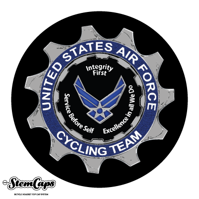 Air Force Cycling Team Stemcap Cover with Base cap
