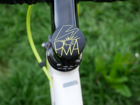 PMA- a 2 piece, custom designed bicycle stem caps to replace your current headset cover or stem cap.