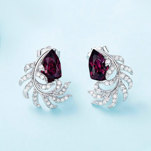 925 Sterling Silver Stud Earrings Decorated With Crystals From Swarovski® FashionCat Earrings 25YE126480800.2