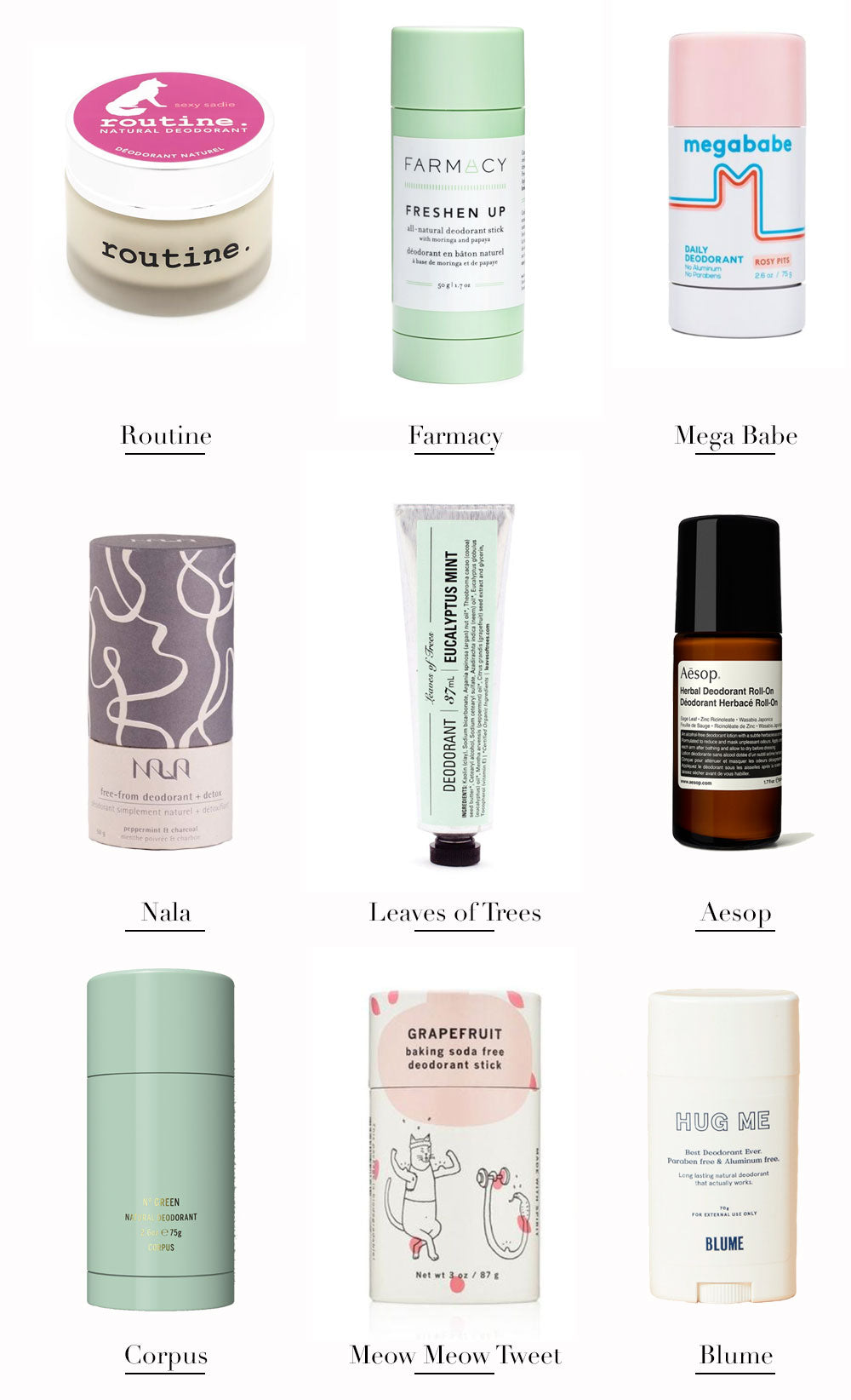 the 9 best all natural deodorants | FRANC