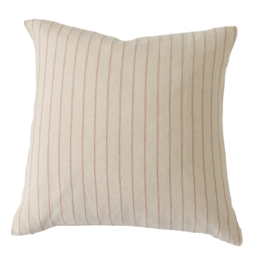 Charles Tan Stripe Pillow Cover