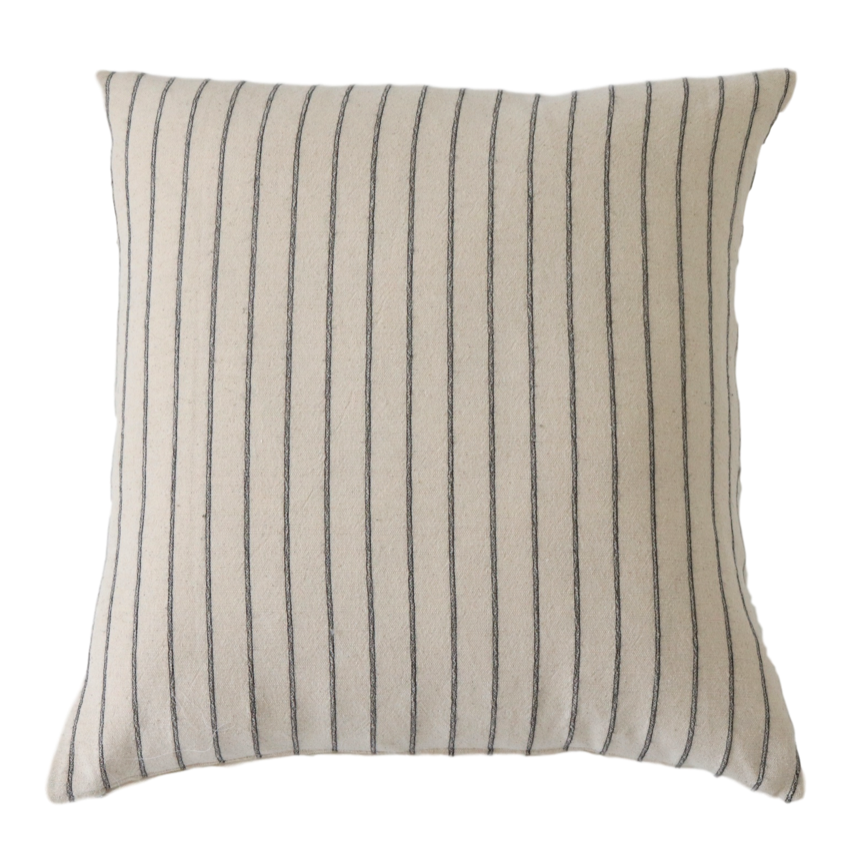 Charles Black Stripe Pillow Cover