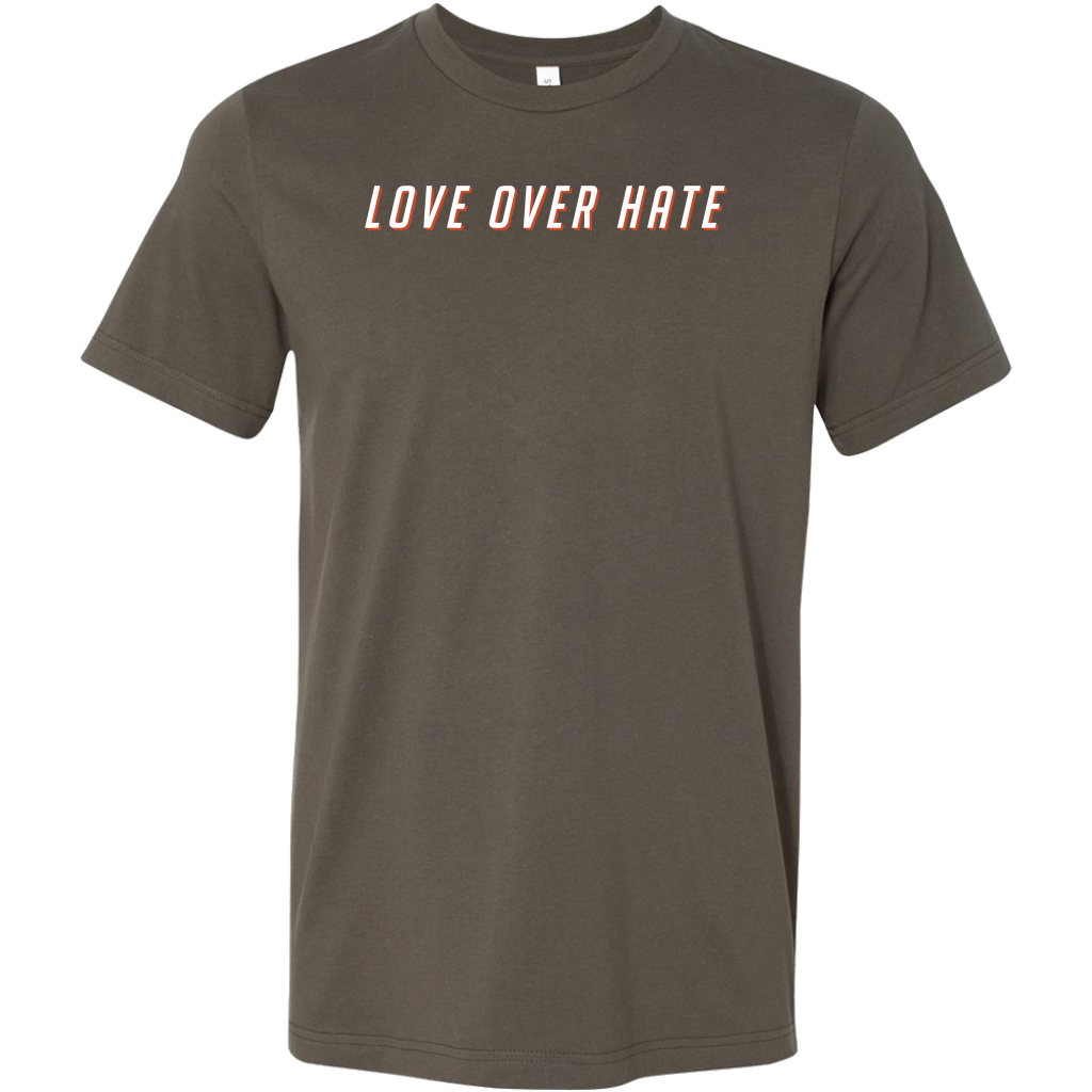 Love Over Hate Tee (White Ink)
