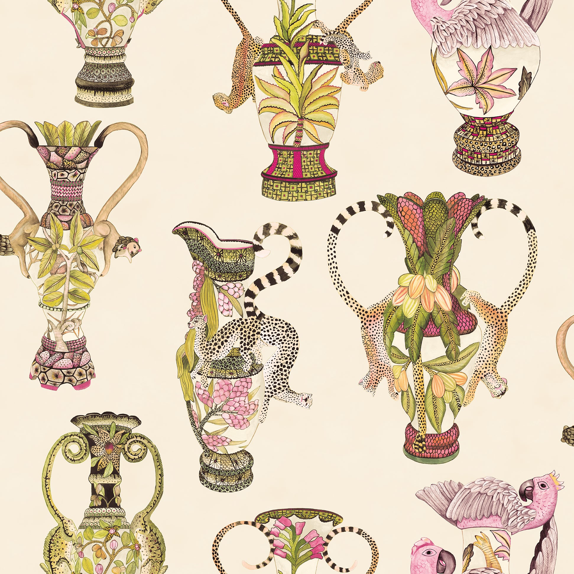 Sample of Cole & Son Khulu Vases 109/12057