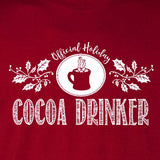 cocoa drinker tee cardinal red official holiday christmas family personalized short sleeve t-shirt