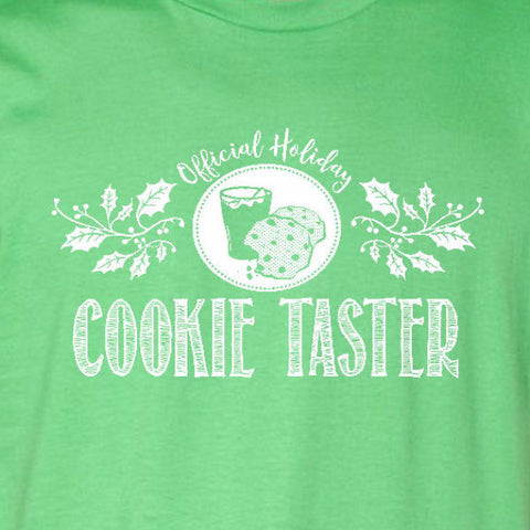 cookie taster ladies tee irish green official holiday christmas family personalized short sleeve t-shirt
