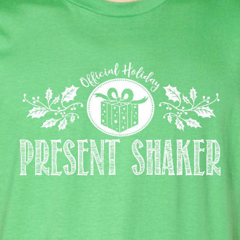 present shaker tee irish green official holiday christmas family personalized short sleeve t-shirt