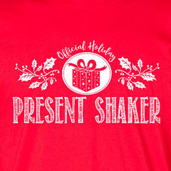 present shaker ladies tee red official holiday christmas family personalized short sleeve t-shirt
