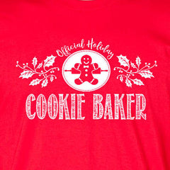 cookie baker tee red official holiday christmas family personalized short sleeve t-shirt
