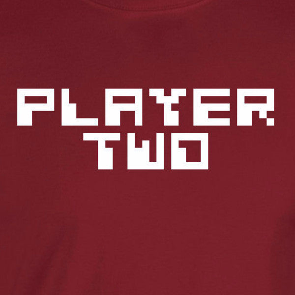 player two gamer retro nes nintendo little brother sister couple cardinal red t-shirt