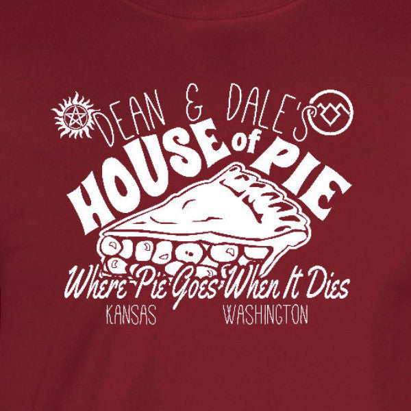house of pie T-shirt cardinal red dean winchester supernatural dale cooper twin peaks unisex mens ladies tee