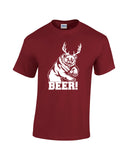 bear plus antlers equals bear white print cardinal shirt always sunny mac charley