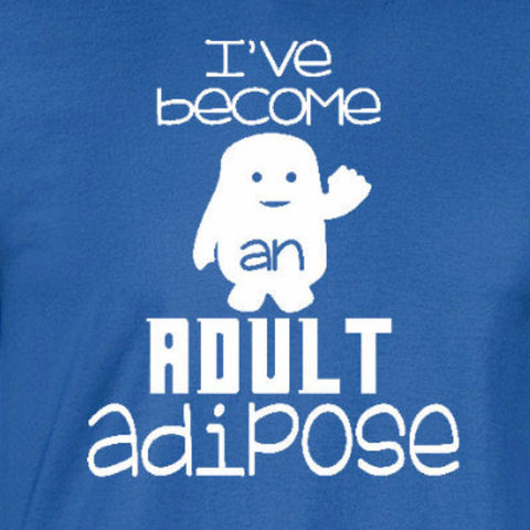 adult adipose doctor who royal t-shirt