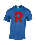 team rocket r shirt blue