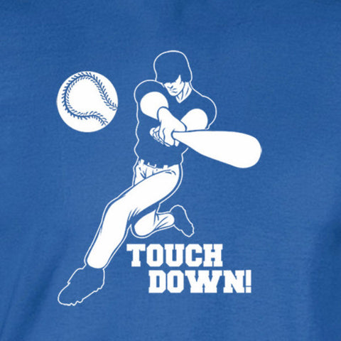 baseball touch down touchdown shirt blue