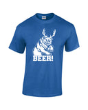 bear plus antlers equals bear white print blue shirt always sunny mac charley