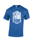 prancing pony shirt blue shirt white print wicked moxie