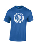 italian stallion boxing gym white print blue shirt - wicked moxie - balboa rocky