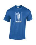 hermit tarot card shirt blue
