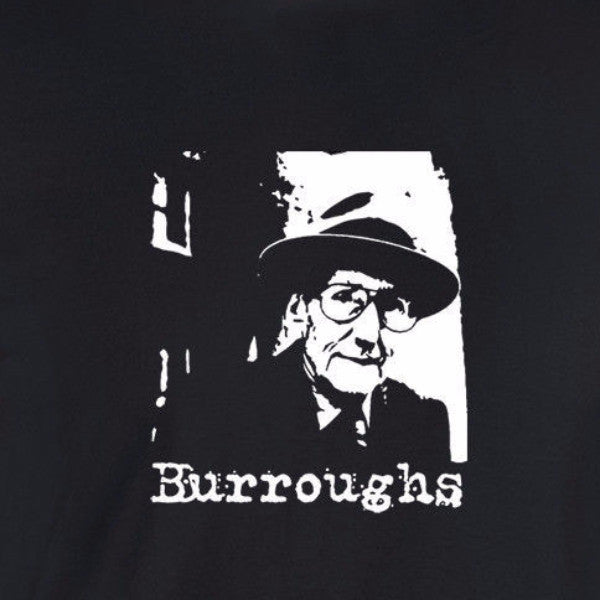 william burroughs portrait black t-shirt