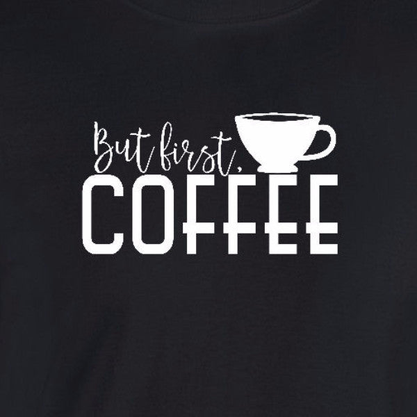 but first coffee lovers shop black t-shirt