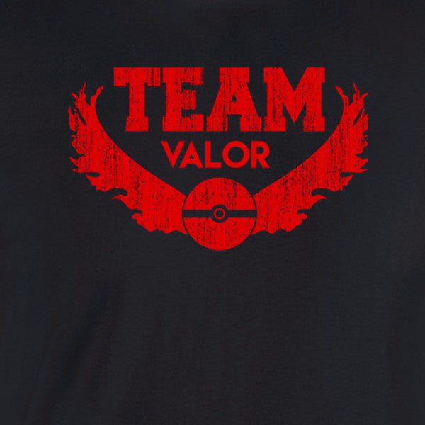 team valor pokemon go shirt black