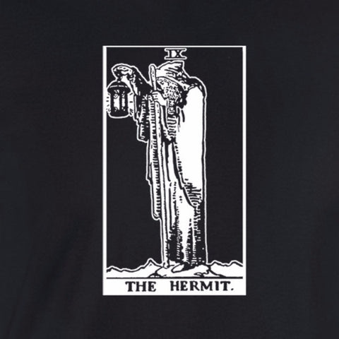 hermit tarot card shirt black